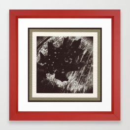 Dessicated Oak Leaf Framed Art Print