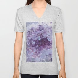 Crystal Gemstone Unisex V-Neck