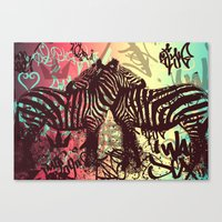 zebra Canvas Prints featuring ZEBRA by Nechifor Ionut