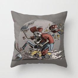 Death Kart Throw Pillow