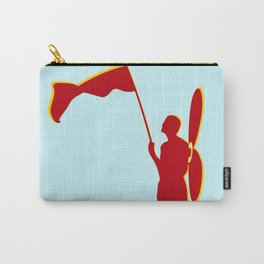 Man with a red flag and propeler  Carry-All Pouch