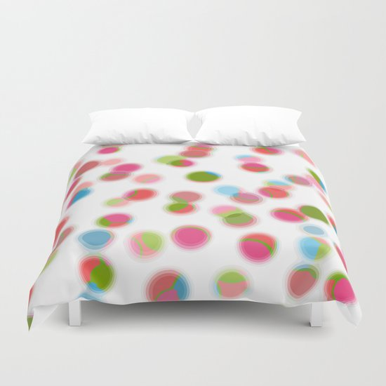 green red blue experiment Duvet Cover