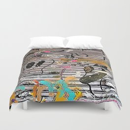 Still - Hanging Out In Coney Island Duvet Cover
