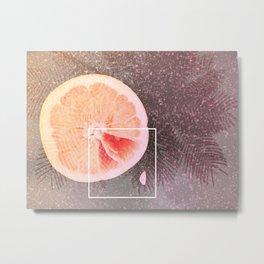 Grapefruit Dreams Metal Print
