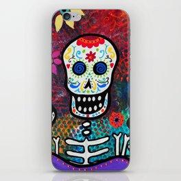 Mexican Dia de los Muertos Mariachi Painting iPhone Skin