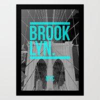 BROOK. LYN. Art Print