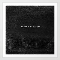 givenchy Art Prints featuring Givenchy Black  by Luxe Glam Decor