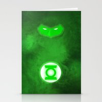green lantern Stationery Cards featuring Green Lantern by theLinC