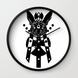 the mothership (black on white) Wall Clock