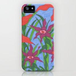 Boho Garden Blues iPhone Case