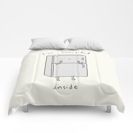 I'm Beautiful Inside Comforters