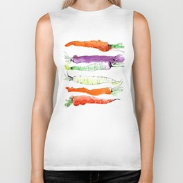Rainbow Gardens: Carrots Biker Tank