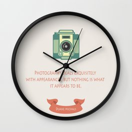 Photography & appearances Wall Clock