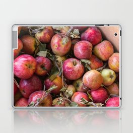 Pile of freshly picked organic farm apples with imperfections Laptop & iPad Skin