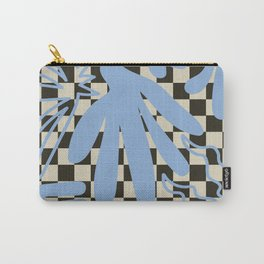 Modern Retro Geometric Natural Floral Leaf Design II Carry-All Pouch