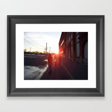 An Allentown Sunset Framed Art Print