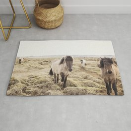 Horse Photograph in Color Rug