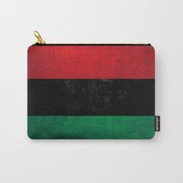 Distressed Afro-American / Pan-African / UNIA flag Carry-All Pouch