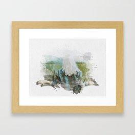 Forest girl Watercolor Framed Art Print