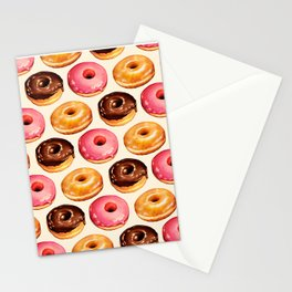 Donut Pattern Stationery Cards