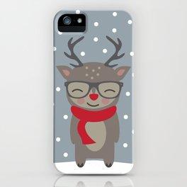 Merry Christmas Deer iPhone Case