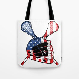 A Sports Tee For Sporty You With An Illustration Of A Helmet American Flag T-shirt Design America Tote Bag
