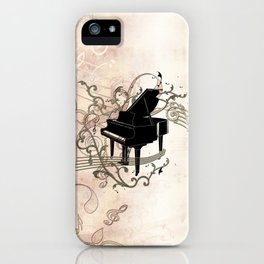 Music, piano with key notes and clef iPhone Case