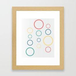 colored rings Framed Art Print