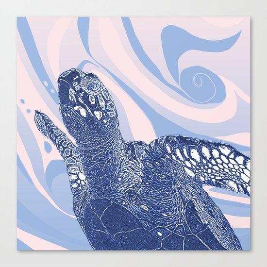 Unique Turtle Design Canvas Print