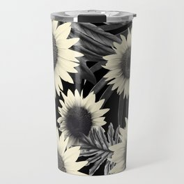 Tropical Sunflower Jungle Night Leaves Pattern #2 #tropical #decor #art #society6 Travel Mug