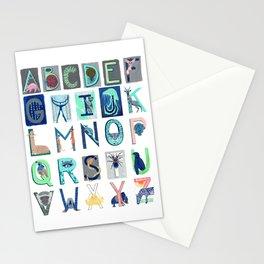 Alphabet Letter Decor Design Art Pattern Stationery Cards