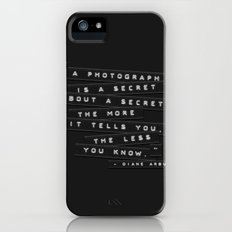 A Photograph Is A Secret Embossed Labels Slim Case iPhone (5, 5s)
