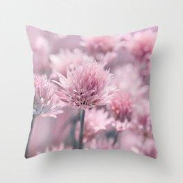 Allium pink 0146 Throw Pillow