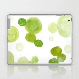 Abstract Green Watrcolor Circes Laptop & iPad Skin