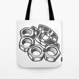 "Fashion Modern Design Print ""Brass Knuckles""! Rap, Hip Hop, Rock style and more Tote Bag"