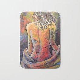 Abstract Art Original Nude Woman Girl Painting ... The Company You Keep Bath Mat