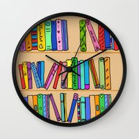 library Wall Clocks featuring The library by andy_panda_