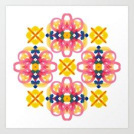 geometric watercolor pattern Art Print