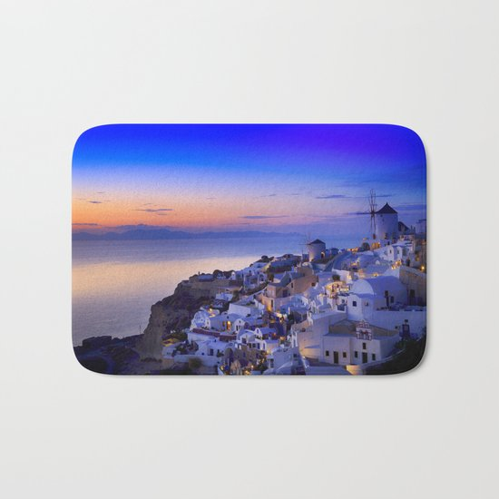 Santorini, Greece Bath Mat