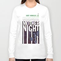 kurt vonnegut Long Sleeve T-shirts featuring Vonnegut - Mother Night by Neon Wildlife