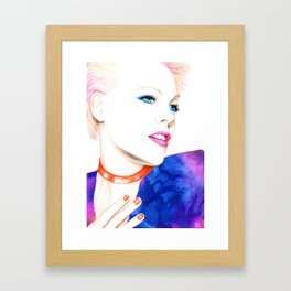 A hint of pink Framed Art Print