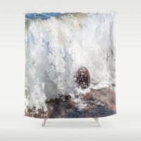 coconut wishes Shower Curtains featuring Coconut Overtaken by Jennifer Stinson