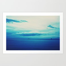 dark blue day Art Print
