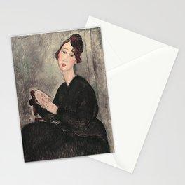 Portrait of Dedie Hayde by Amedeo Modigliani Stationery Cards