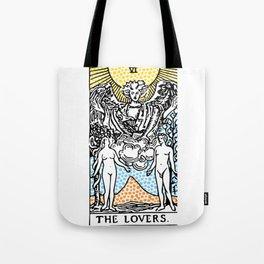 Modern Tarot Design - 6 The Lovers Tote Bag