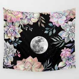 succulent full moon 4 Wall Tapestry