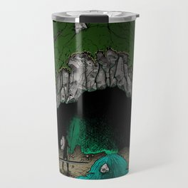 Party Approaching Cave Travel Mug
