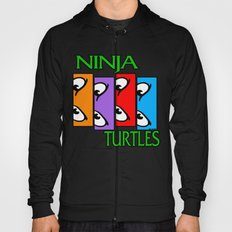 Black Flagged Turtles in a Half Shell Hoody