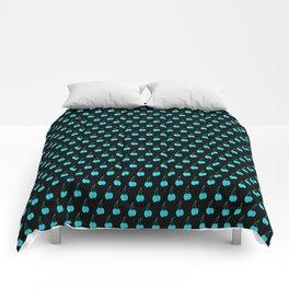 Blue Cherries Comforters