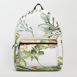 Watercolour Floral Print Backpack